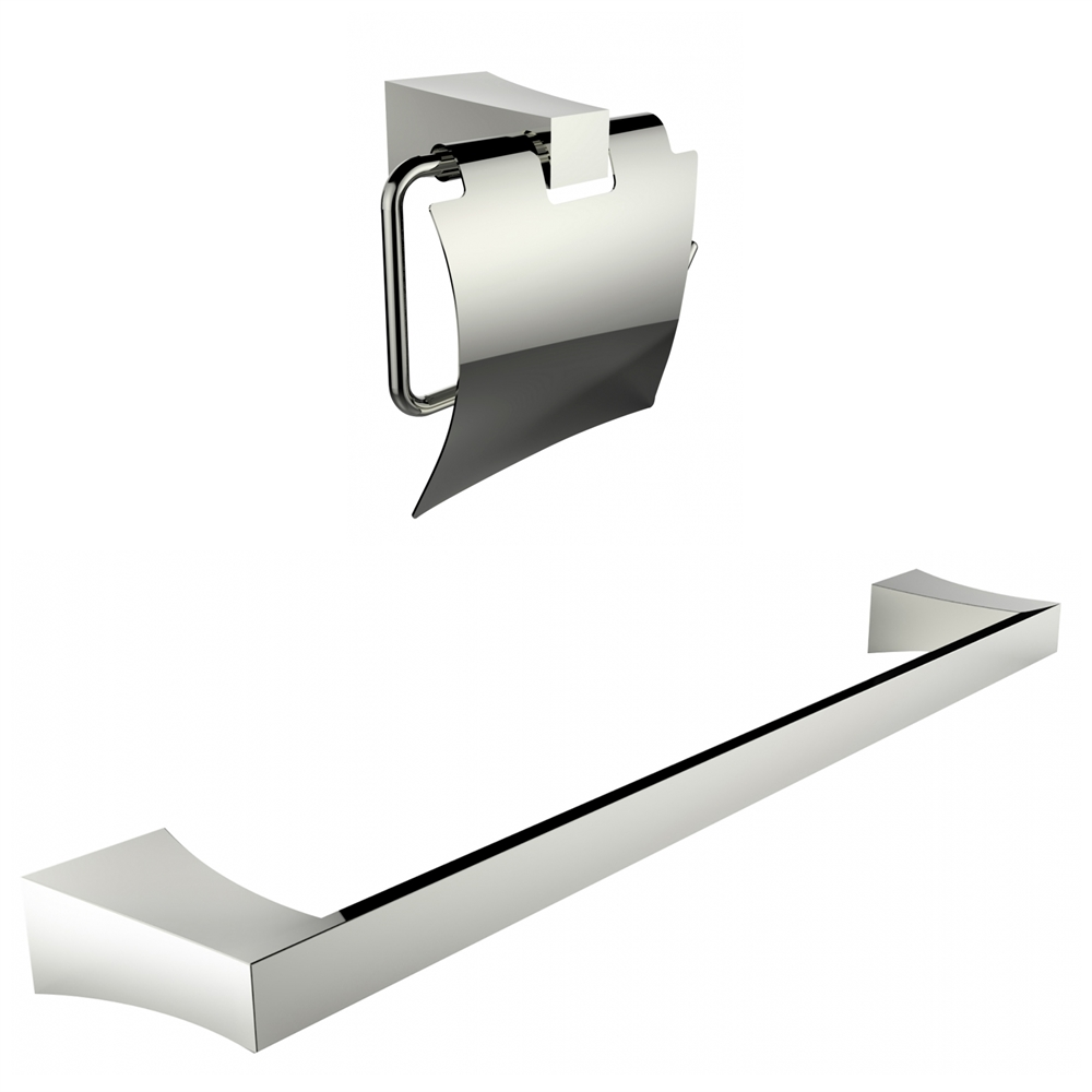 Chrome Plated Toilet Paper Holder With Single Rod Towel