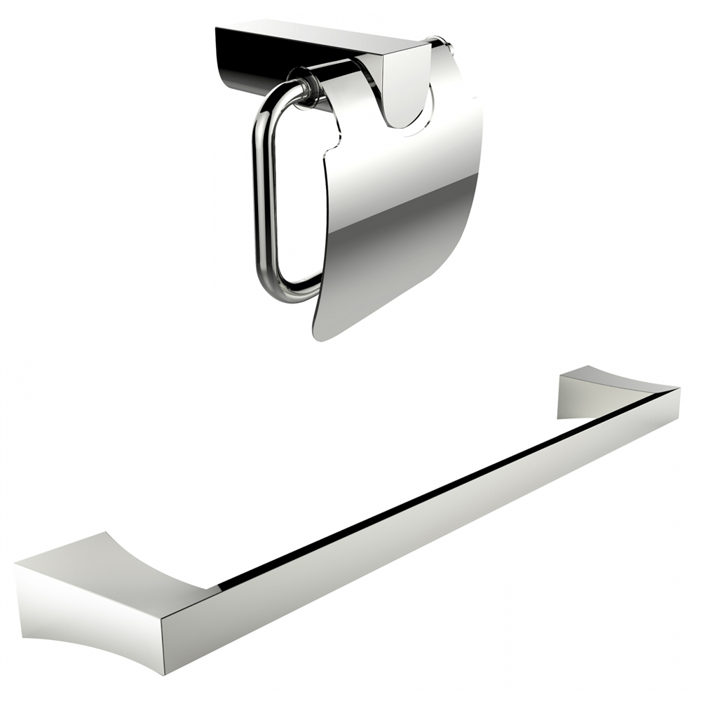 Chrome Plated Toilet Paper Holder With Single Rod Towel Rack ...