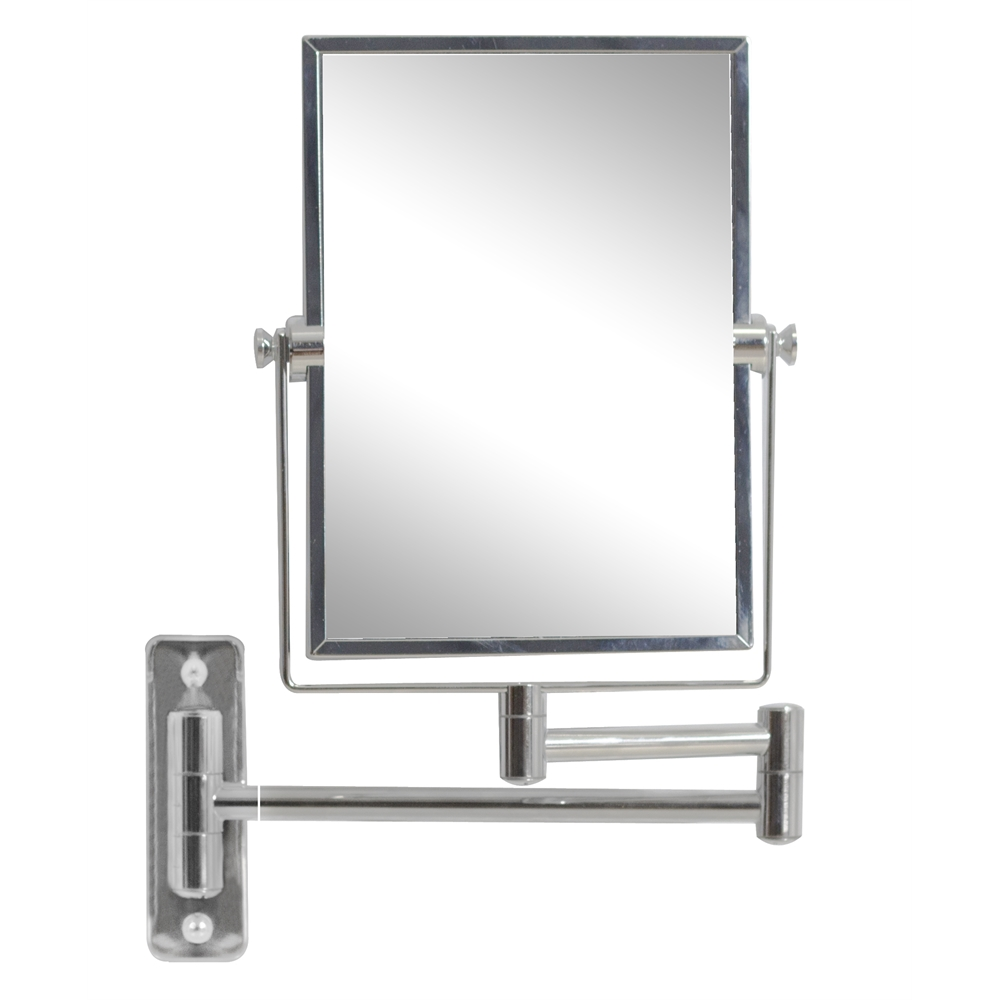 Wall Mount Magnifying Mirror in. w rectangle brass-mirror wall mount magnifying mirror in