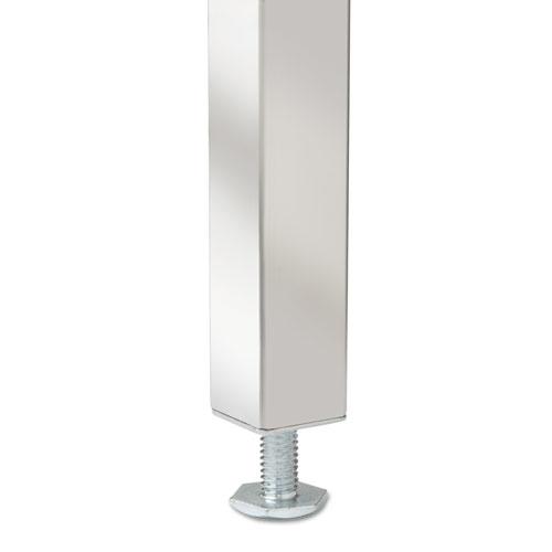 """Single Pedestal Steel Desk, 45.25"""" x 24"""" x 29.5"""", Cherry/Putty. Picture 5"""