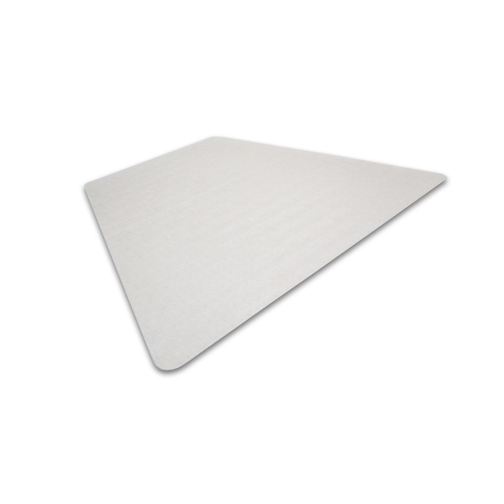"Cleartex Ultimat Corner Workstation Chair Mat, Polycarbonate, For Low & Medium Pile Carpets (up to 1/2""), Size 48"" x 60"". Picture 1"