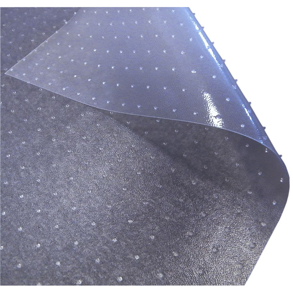 """Cleartex Advantagemat PVC Clear Chairmat for Low Pile Carpets 1/4"""" or less , Rectangular with Front Lipped Area for Under Desk Protection (45"""" X 53""""). Picture 3"""