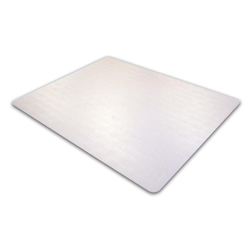 "Cleartex Ultimat Rectangular Chair Mat, Polycarbonate, For Low & Medium Pile Carpets (up to 1/2""), Size 35"" x 47"". Picture 1"