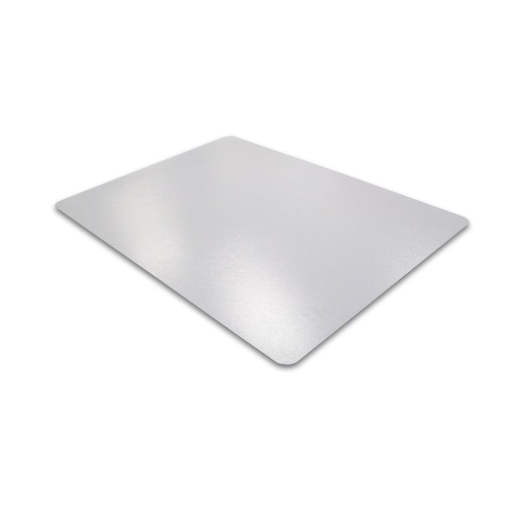 "Cleartex Ultimat Chair Mat, Rectangular, Clear Polycarbonate, For Hard Floors, Size 48"" x 53"". Picture 4"