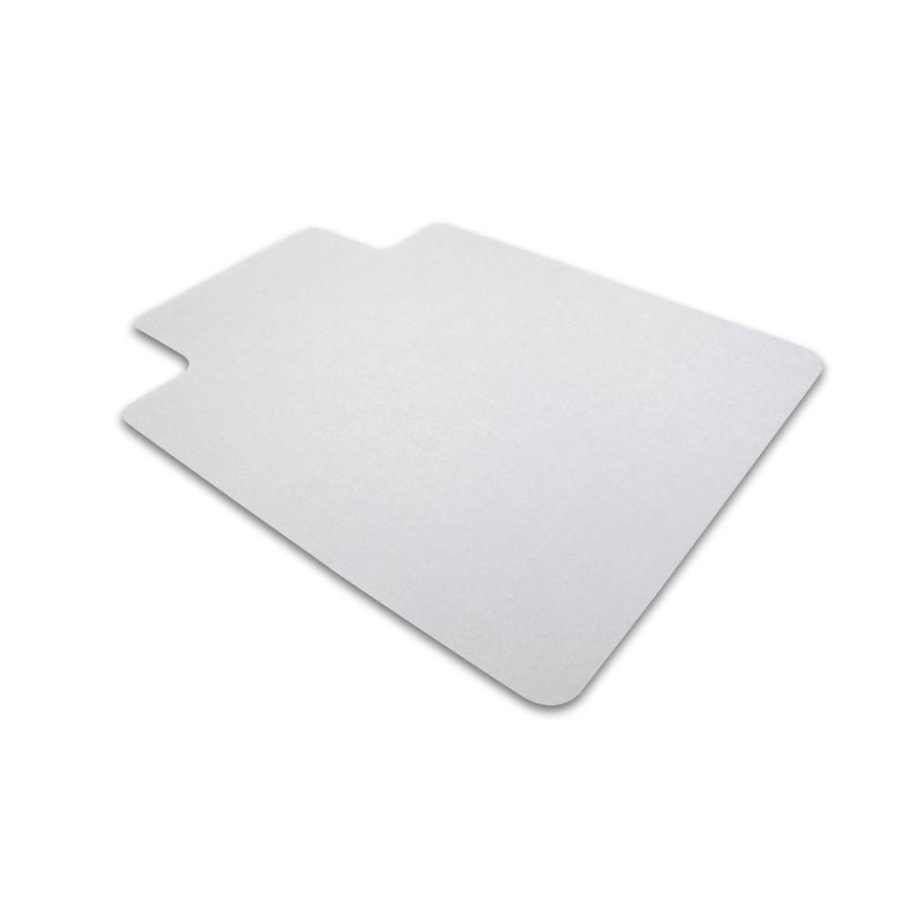 "Cleartex Ultimat Chair Mat, Rectangular With Lip, Clear Polycarbonate, For Hard Floor, Size 48"" x 53"". Picture 5"