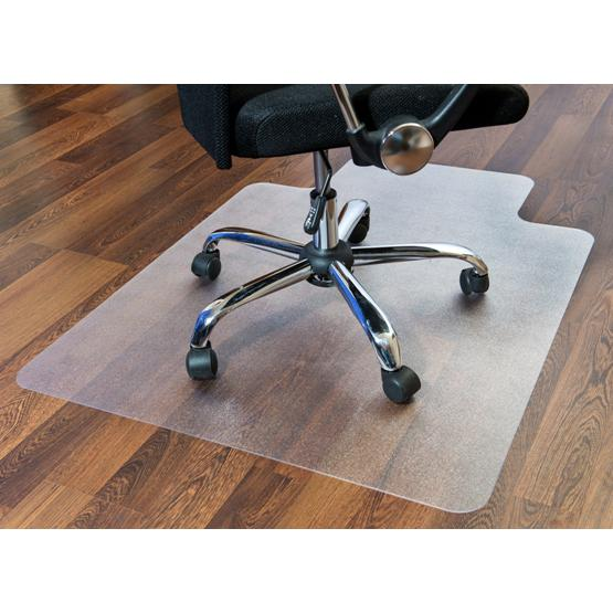 "Cleartex Ultimat Chair Mat, Rectangular With Lip, Clear Polycarbonate, For Hard Floor, Size 48"" x 53"". Picture 3"
