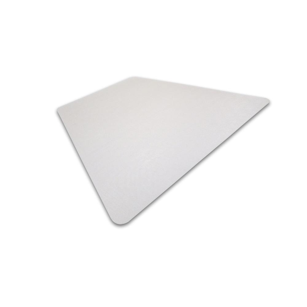 """Cleartex Ultimat, Corner Workstation Chair Mat, Polycarbonate, For Hard Floors, Size 48"""" x 60"""". Picture 1"""