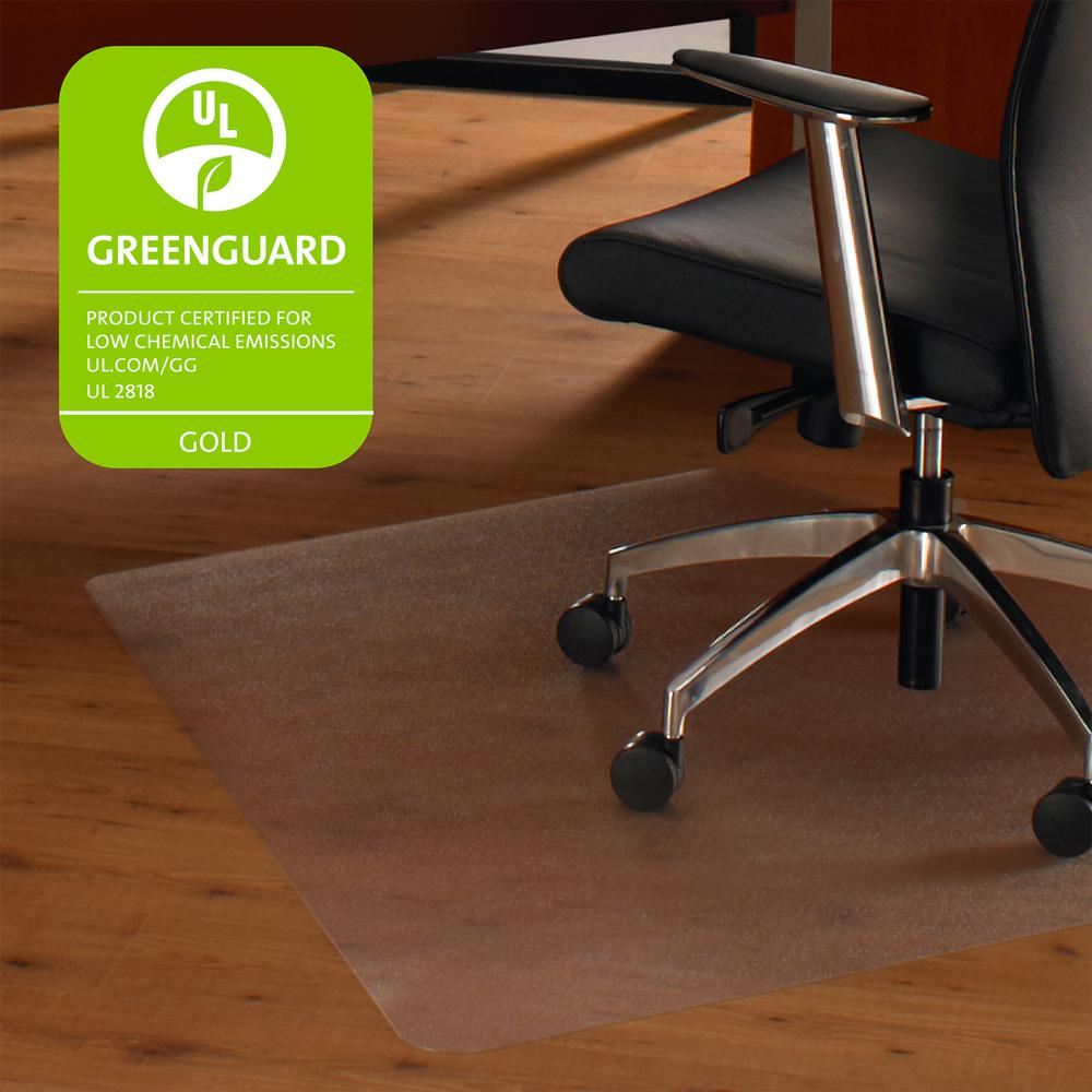 """Cleartex Ultimat, Corner Workstation Chair Mat, Polycarbonate, For Hard Floors, Size 48"""" x 60"""". Picture 2"""