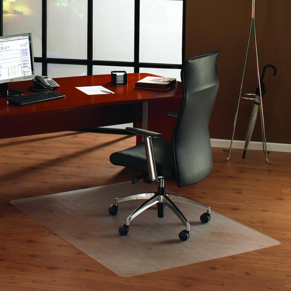 "Cleartex UnoMat, Anti-Slip Chair Mat, For Polished Hard Floors / Very Low Pile Carpets / Carpet Tiles, Rectangular Size 48"" x 60"". Picture 2"