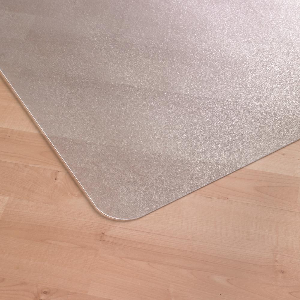 """Cleartex Ultimat Chair Mat, Rectangular, Clear Polycarbonate, For Hard Floors, Size 48"""" x 60"""". Picture 3"""