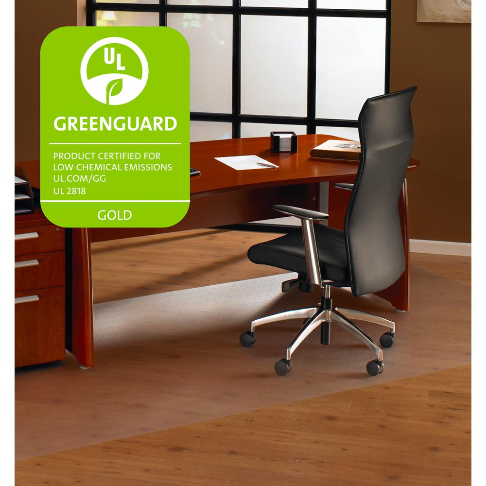 """Cleartex XXL General Office Mat, For Hard Floors, Strong Polycarbonate, Rectangular Size 48"""" x 118"""". Picture 2"""