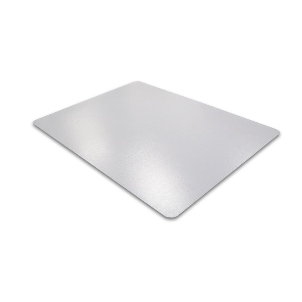 "Cleartex Advantagemat PVC Rectangular Chairmat for Hard Floor (48"" X 118""). Picture 1"