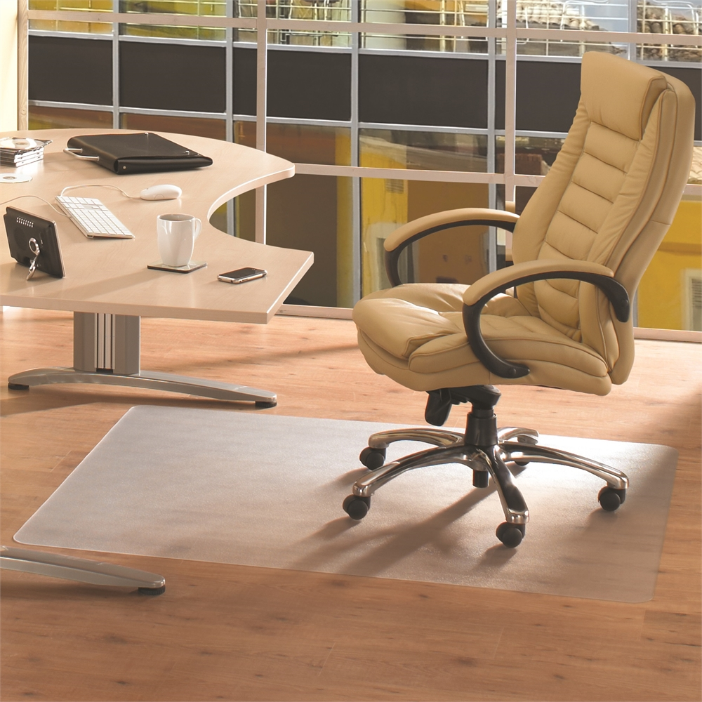 "Cleartex Advantagemat PVC Rectangular Chairmat for Hard Floor (48"" X 118""). Picture 5"