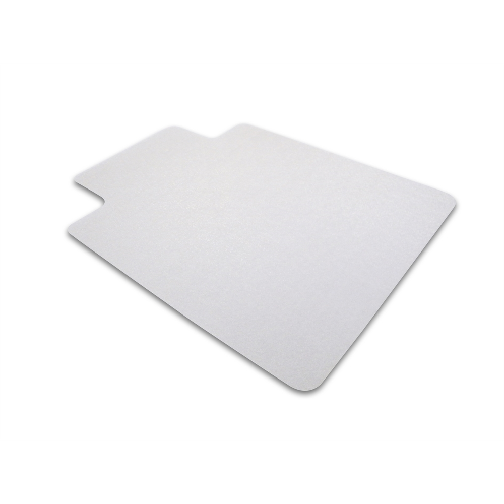 "Cleartex Advantagemat PVC Clear Chairmat for Hard Floor, Rectangular with Front Lipped Area for Under Desk Protection(45"" X 53""). Picture 1"