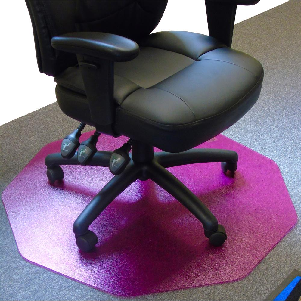 """Cleartex 9Mat Ultimat Polycarbonate Chairmat for Hard Floor in Cerise Pink (38"""" X 39""""). Picture 5"""