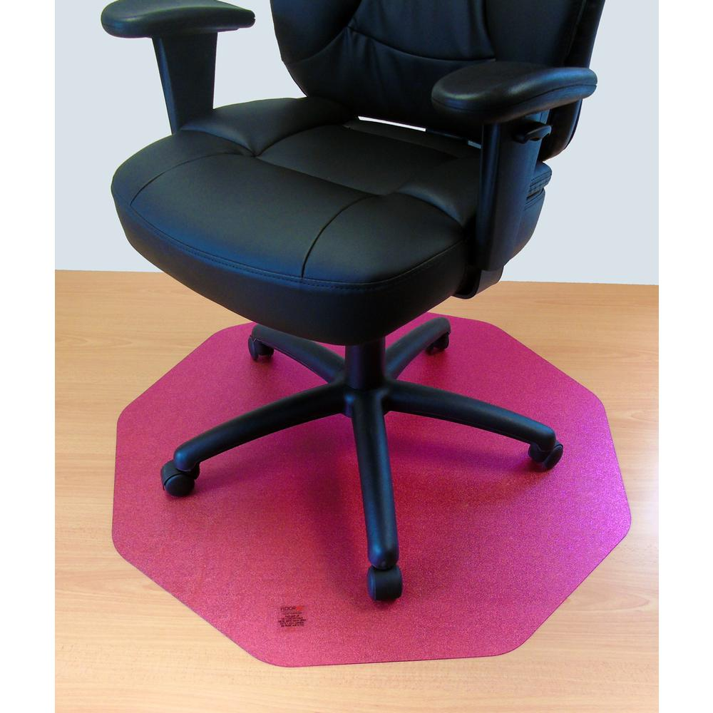 """Cleartex 9Mat Ultimat Polycarbonate Chairmat for Hard Floor in Cerise Pink (38"""" X 39""""). Picture 1"""