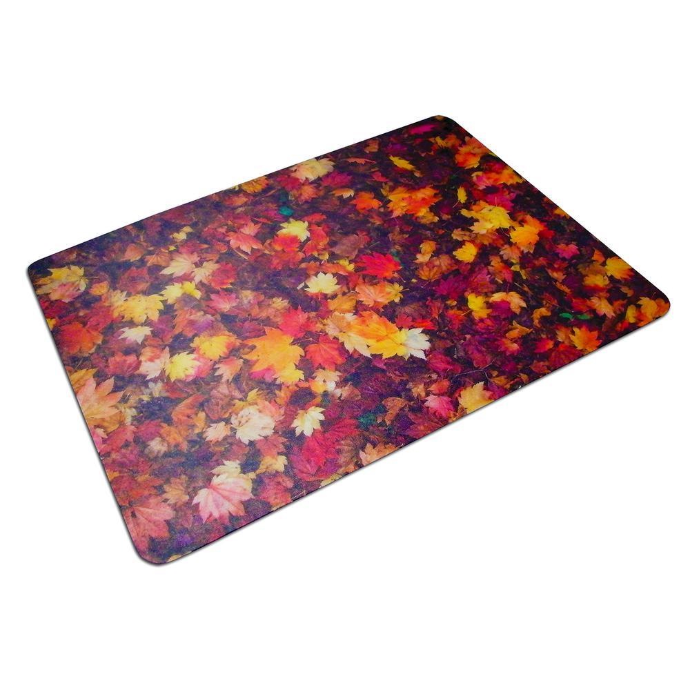 "Colortex Photo Ultimat Rectangular General Purpose Mat In Autumn Leaves Design for Hard Floors (36"" x 48""). Picture 1"