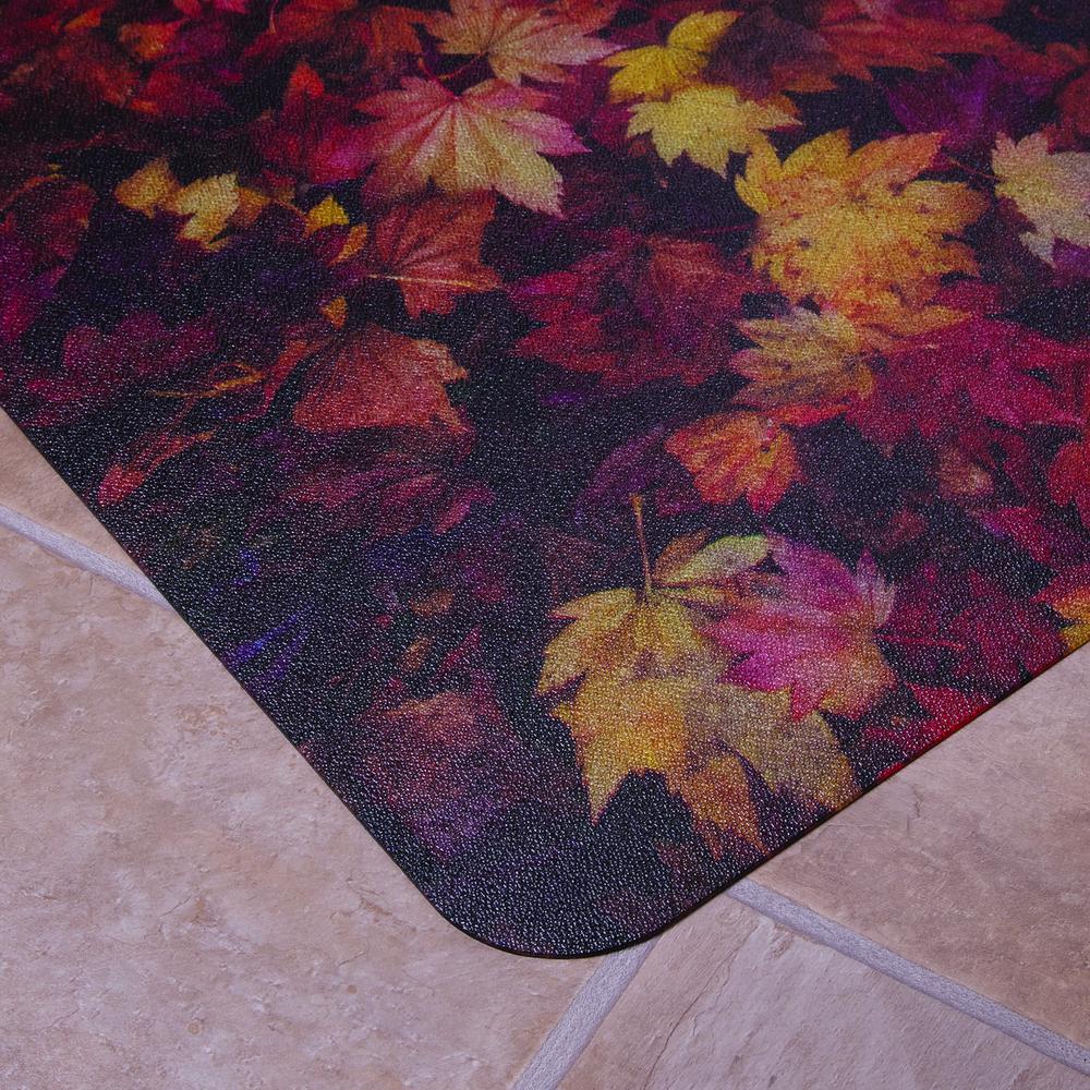 "Colortex Photo Ultimat Rectangular General Purpose Mat In Autumn Leaves Design for Hard Floors (36"" x 48""). Picture 4"