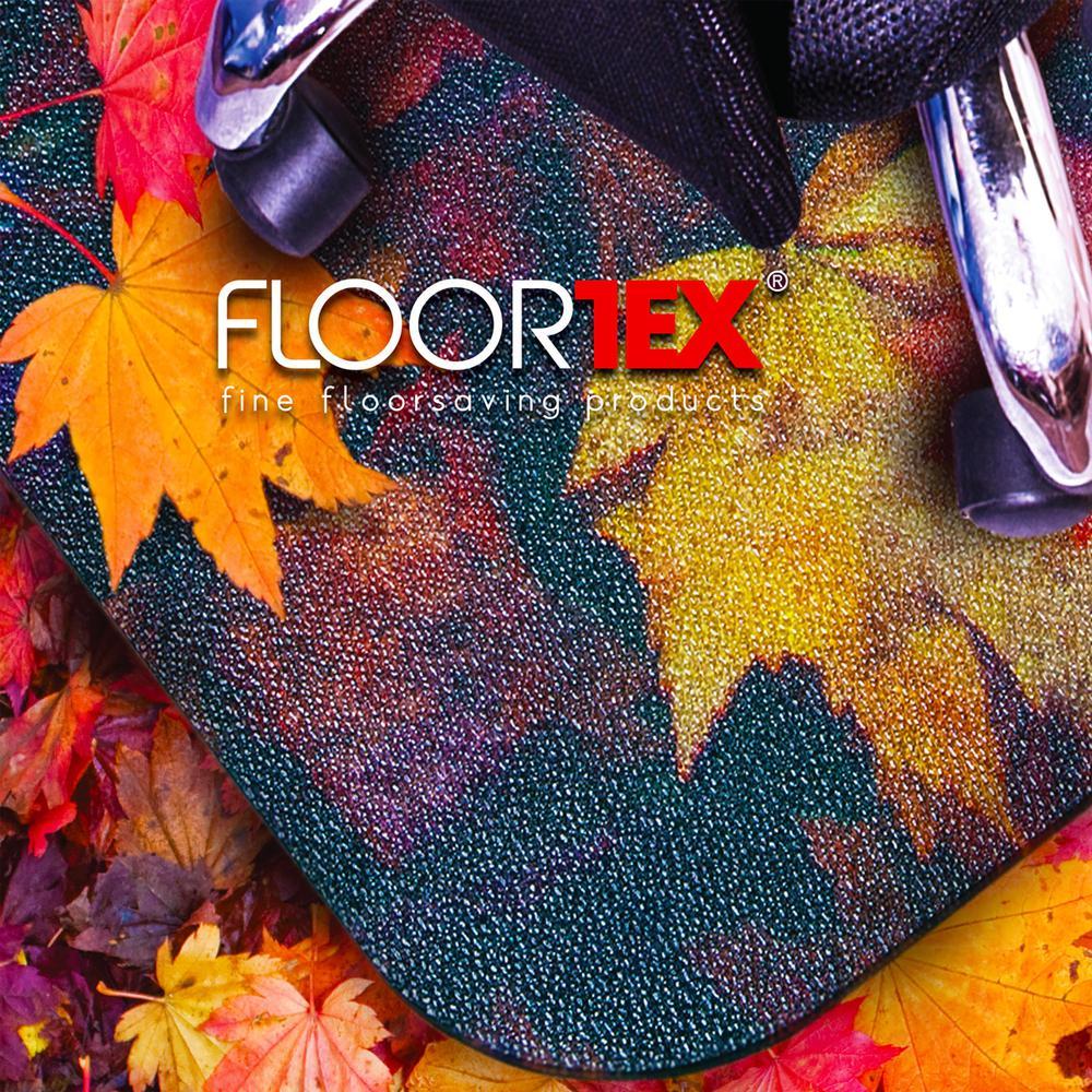 "Colortex Photo Ultimat Rectangular General Purpose Mat In Autumn Leaves Design for Hard Floors (36"" x 48""). Picture 3"