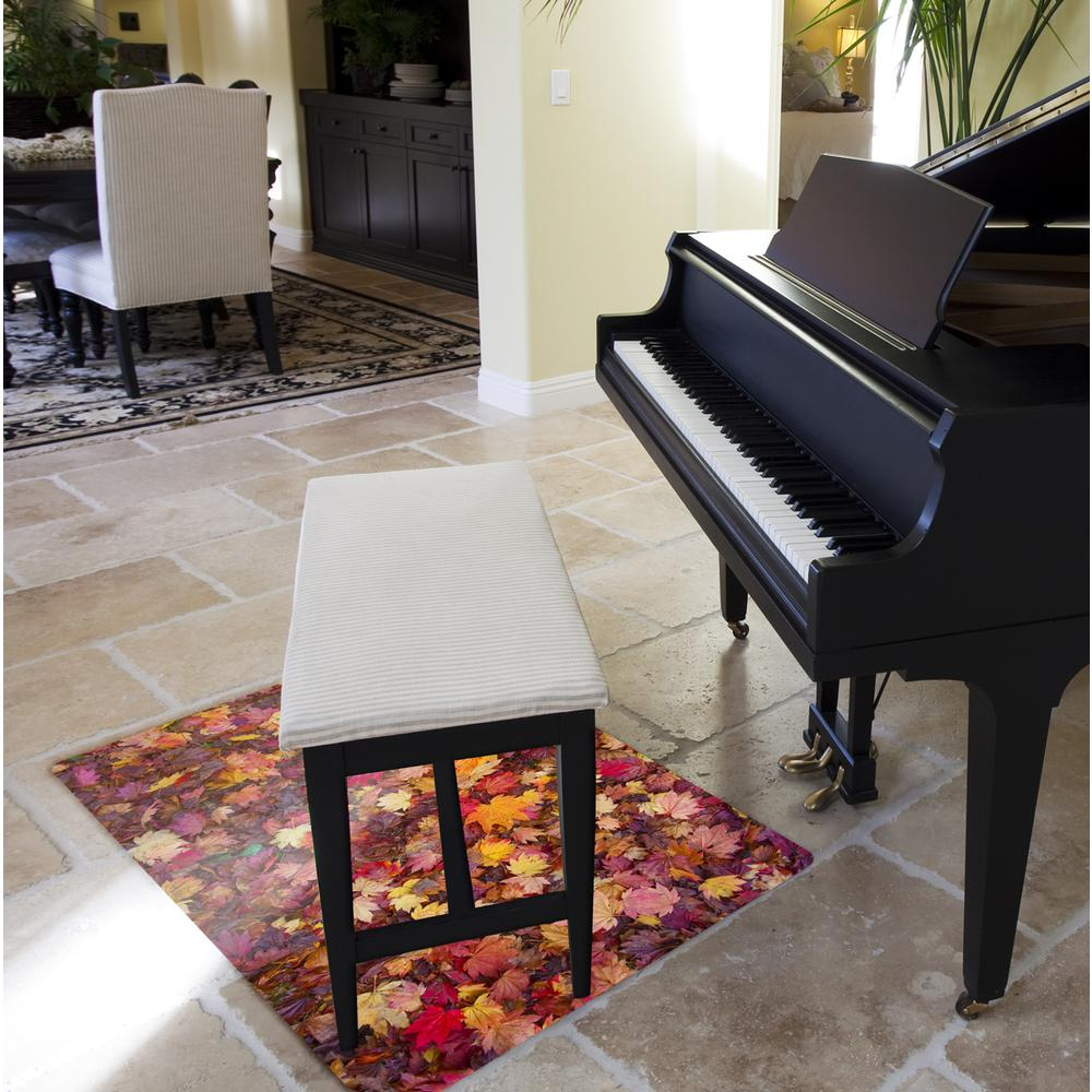 "Colortex Photo Ultimat Rectangular General Purpose Mat In Autumn Leaves Design for Hard Floors (36"" x 48""). Picture 2"