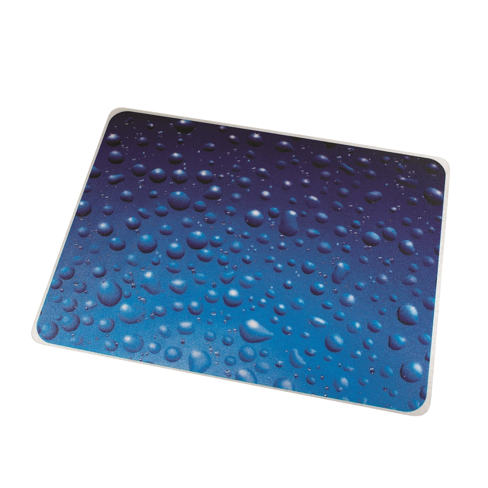 "Colortex Photo Ultimat Rectangular General Purpose Mat In Drops Design for Hard Floors (36"" x 48""). Picture 1"