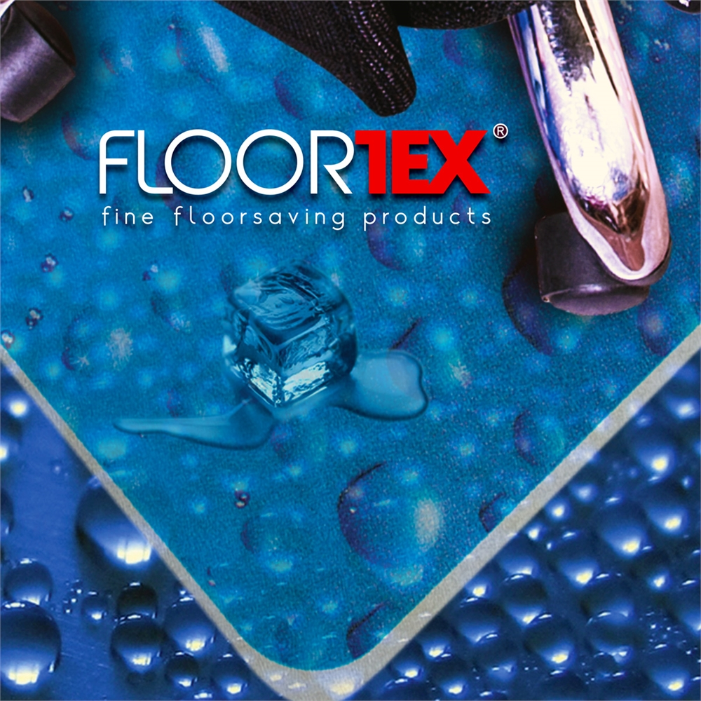 "Colortex Photo Ultimat Rectangular General Purpose Mat In Drops Design for Hard Floors (36"" x 48""). Picture 3"