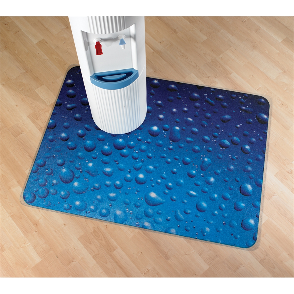 "Colortex Photo Ultimat Rectangular General Purpose Mat In Drops Design for Hard Floors (36"" x 48""). Picture 5"