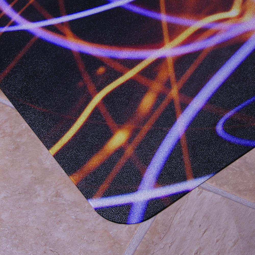 "Colortex Photo Ultimat Rectangular General Purpose Mat In Light Swirl Design for Hard Floors (36"" x 48""). Picture 4"