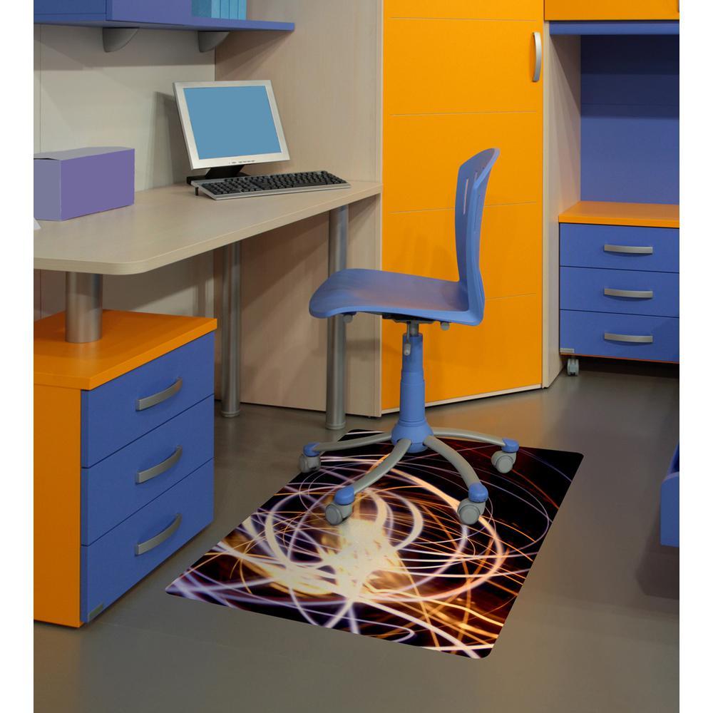"Colortex Photo Ultimat Rectangular General Purpose Mat In Light Swirl Design for Hard Floors (36"" x 48""). Picture 2"