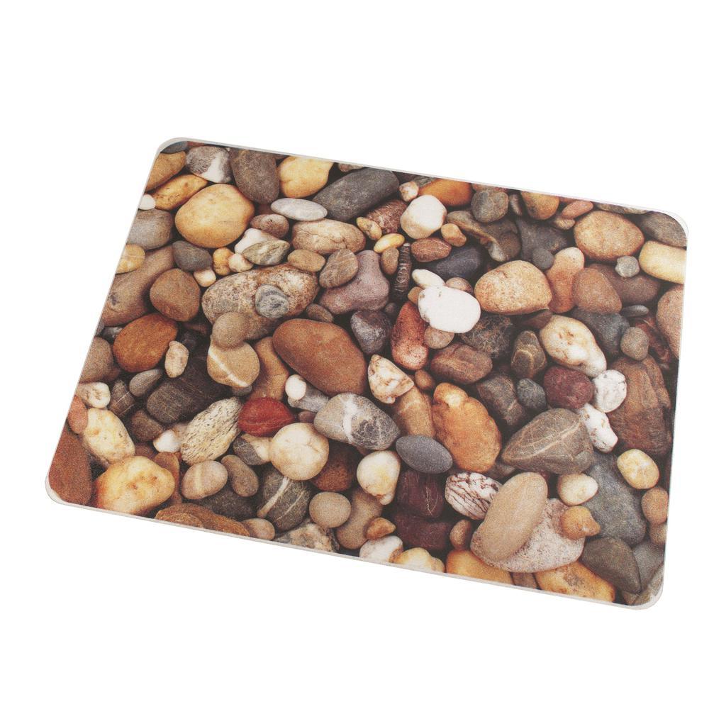 "Colortex Photo Ultimat Rectangular General Purpose Mat In Pebbles Design for Hard Floors (36"" x 48""). Picture 1"