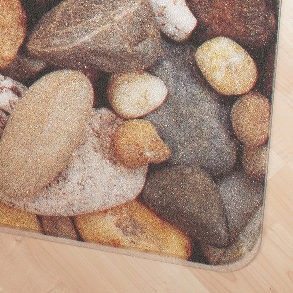 "Colortex Photo Ultimat Rectangular General Purpose Mat In Pebbles Design for Hard Floors (36"" x 48""). Picture 4"