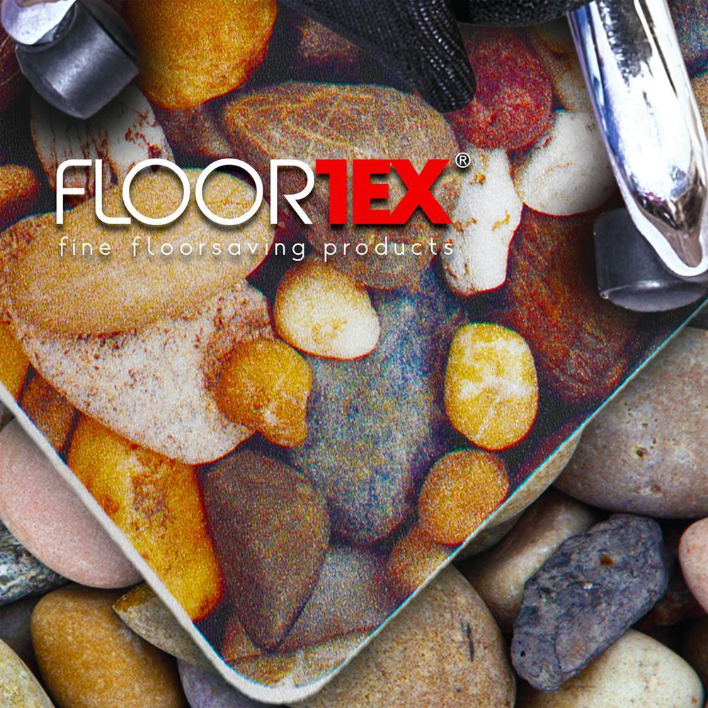 "Colortex Photo Ultimat Rectangular General Purpose Mat In Pebbles Design for Hard Floors (36"" x 48""). Picture 3"