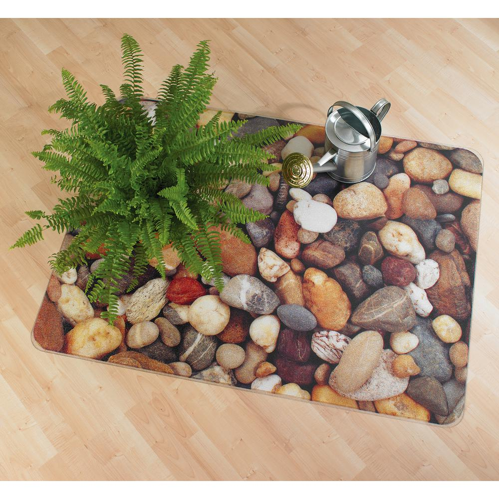 "Colortex Photo Ultimat Rectangular General Purpose Mat In Pebbles Design for Hard Floors (36"" x 48""). Picture 2"