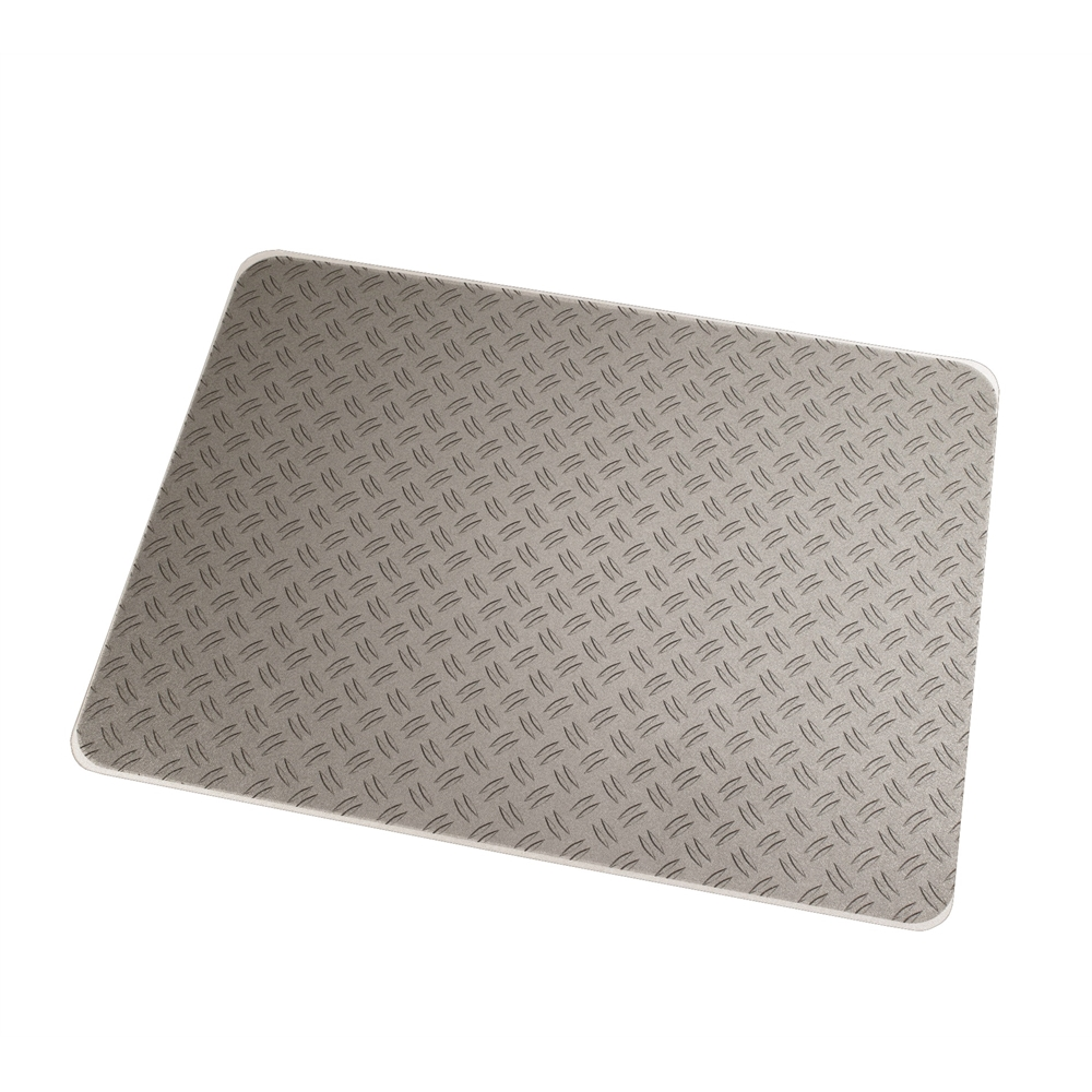 "Colortex Photo Ultimat Rectangular General Purpose Mat In Gray Ripple Design for Hard Floors (36"" x 48""). Picture 1"