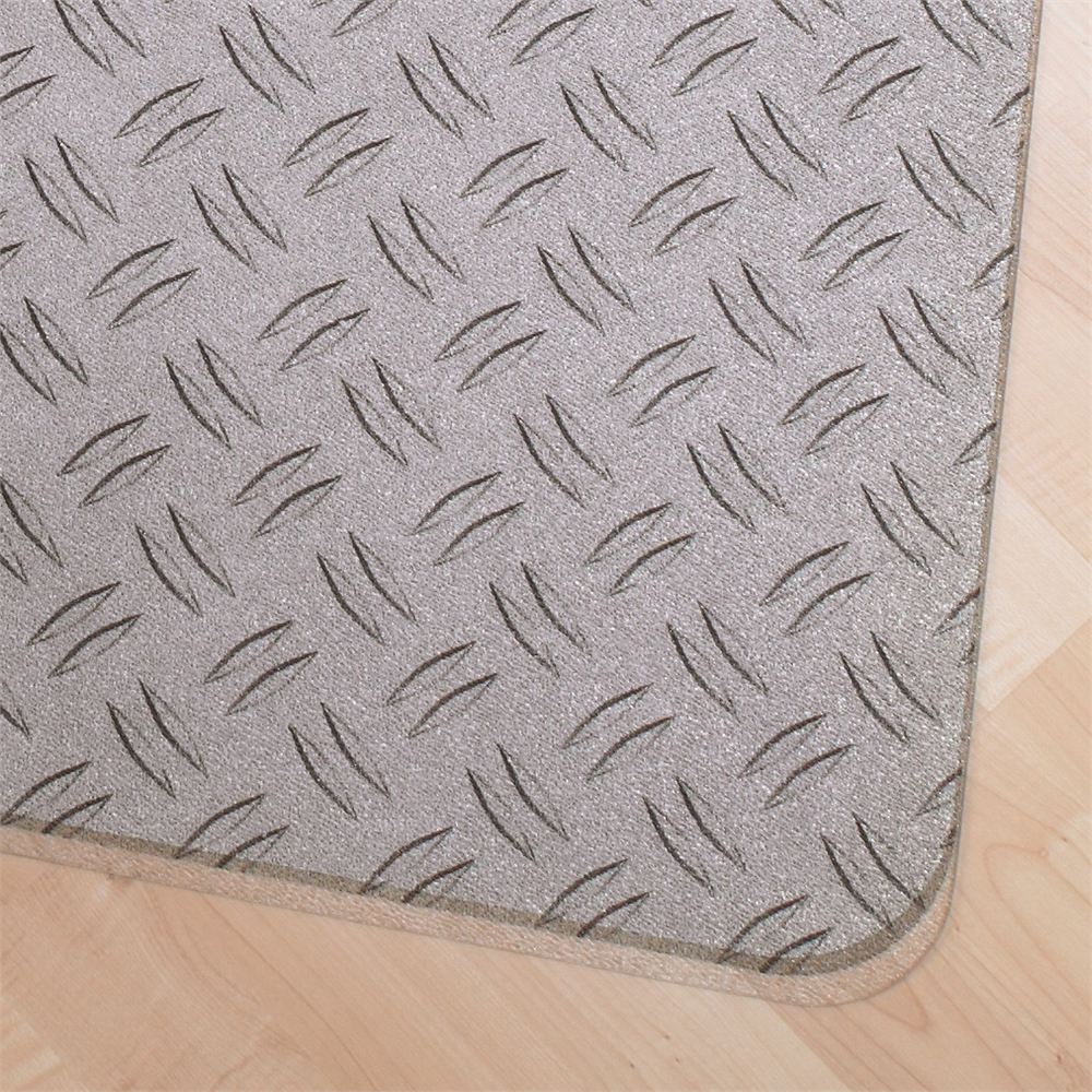 "Colortex Photo Ultimat Rectangular General Purpose Mat In Gray Ripple Design for Hard Floors (36"" x 48""). Picture 2"
