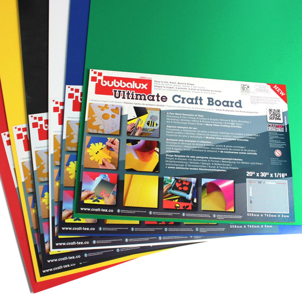 """CraftTex Bubbalux, Ultimate Creative Craft Board, Arctic White, Single Sheet, Large Size 20"""" x 30"""". Picture 13"""