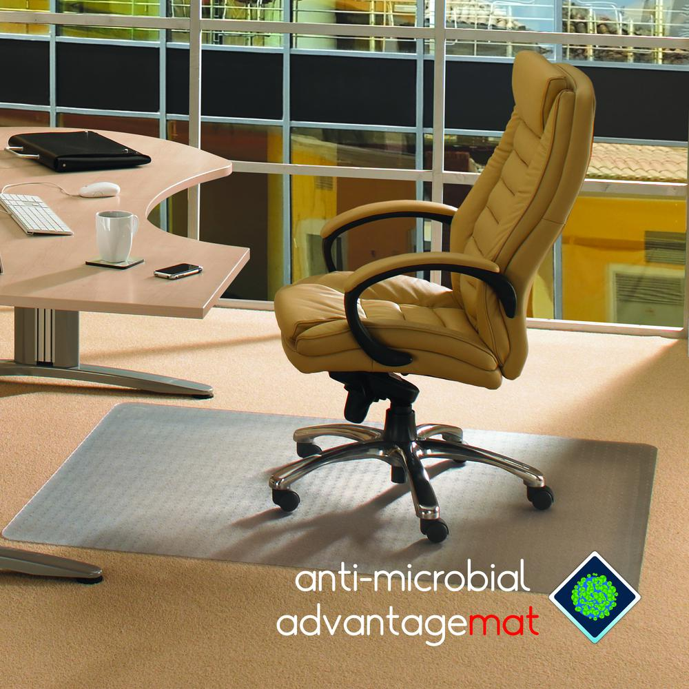 "Anti-Microbial Advantagemat, Rectangular Chair Mat, for Standard Pile Carpets (3/8"" or less), Size 45"" x 53"". Picture 1"
