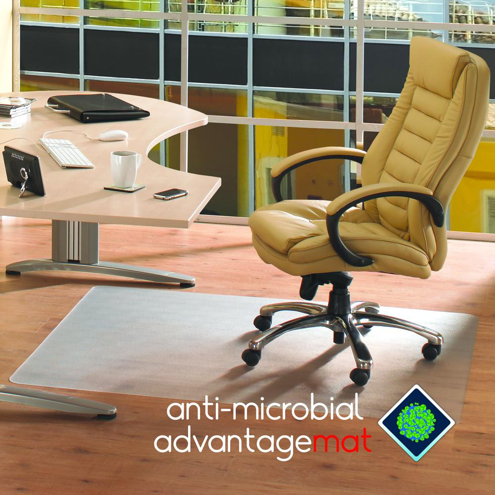 "Anti-Microbial Advantagemat, Rectangular Chair Mat for Hard Floors, Size 48"" x 60"". Picture 1"