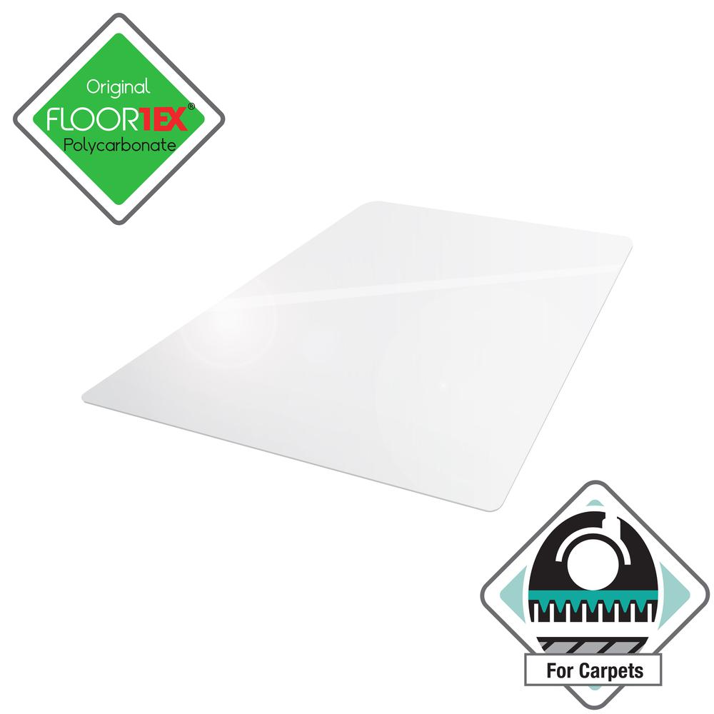 "Clear Floor Mat for Carpets - 35"" x 47"". Picture 2"