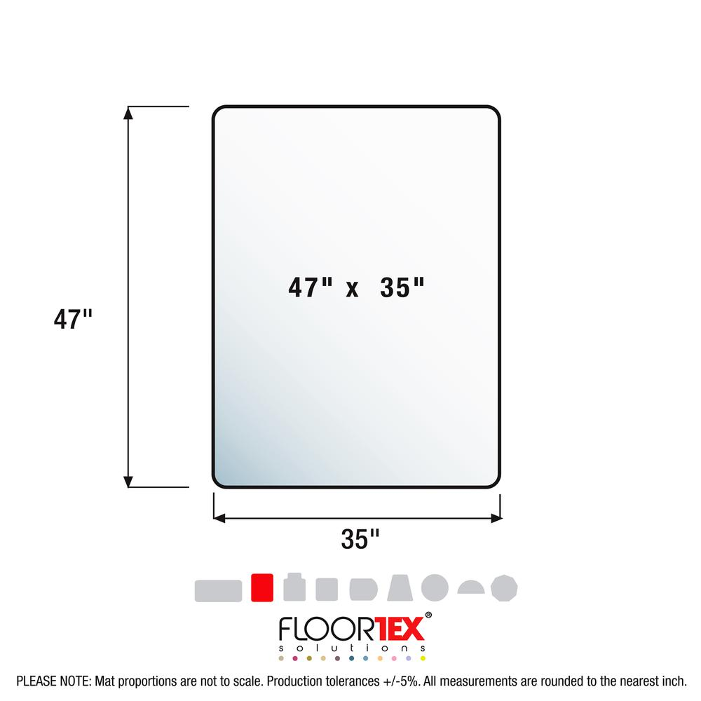 "Clear Floor Mat for Carpets - 35"" x 47"". Picture 5"