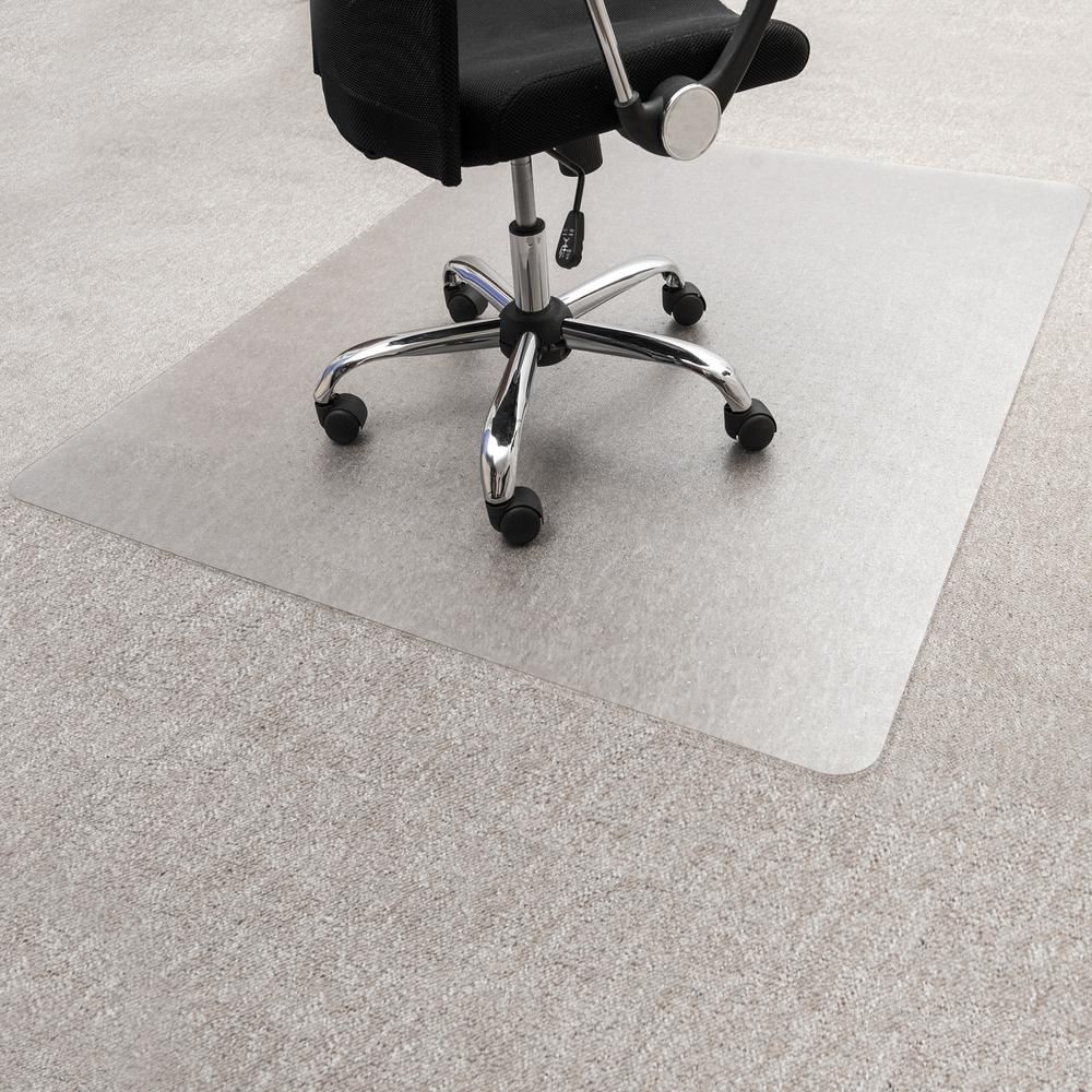 "Clear Floor Mat for Carpets - 35"" x 47"". Picture 1"