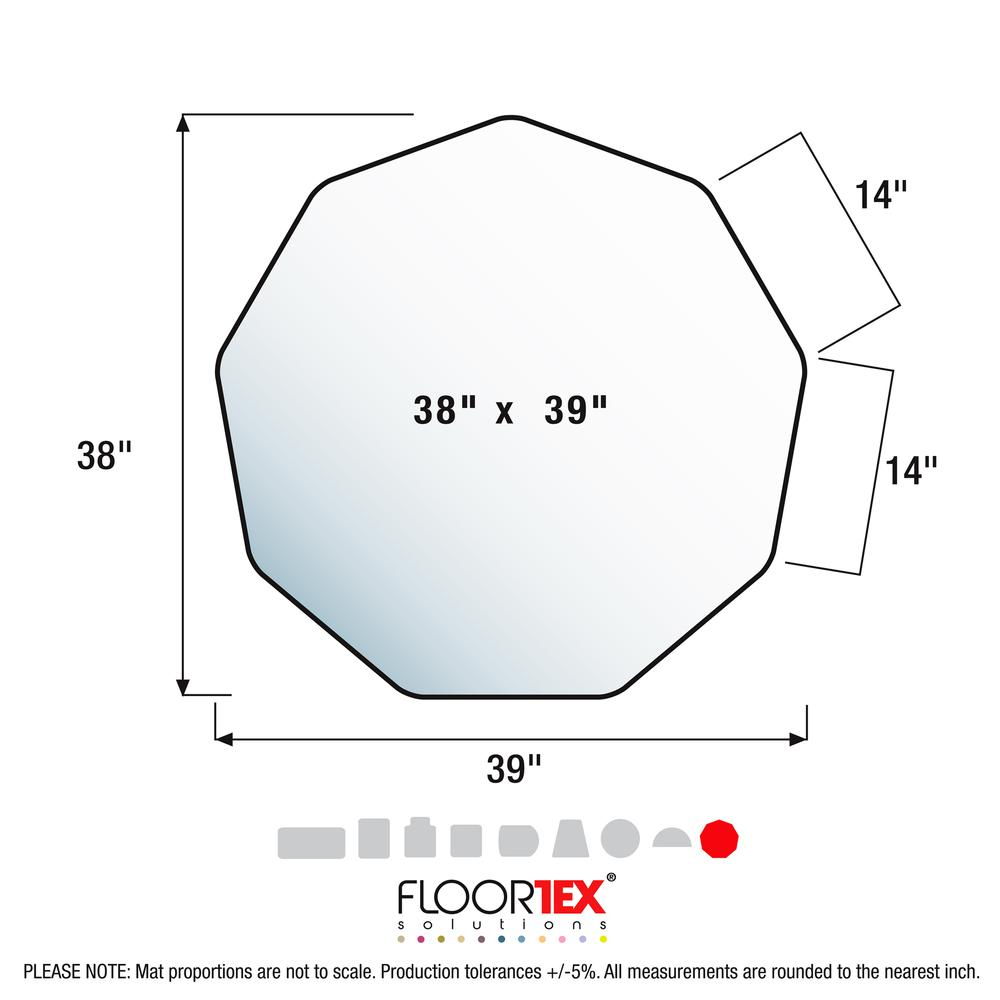"9Mat Blue Floor Protector for Hard Floor - 38"" x 39"". Picture 4"