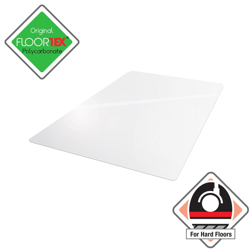 "Clear Floor Mat for Hard Floors - 35"" x 47"". Picture 2"