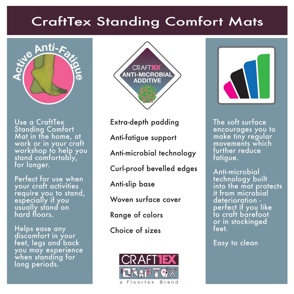 """Red Standing Comfort Mat - 16"""" x 24"""". Picture 9"""