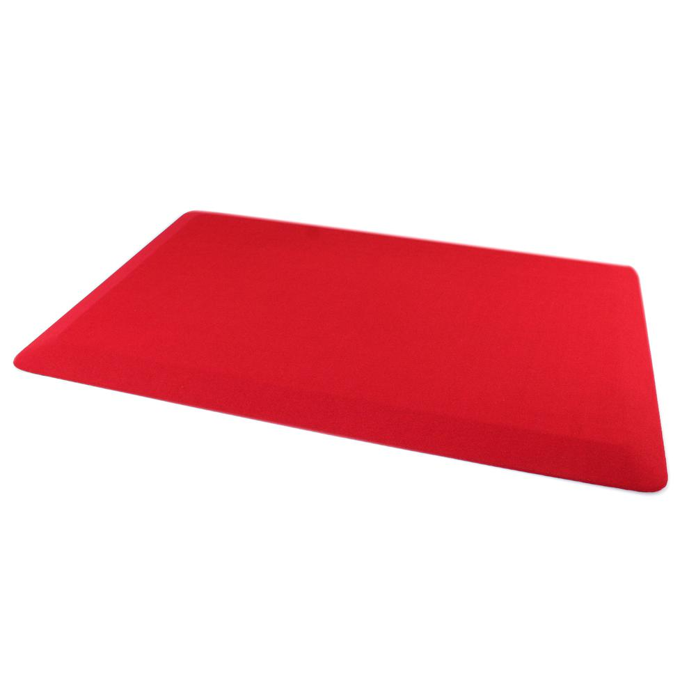 "Red Standing Comfort Mat - 20"" x 32"". The main picture."