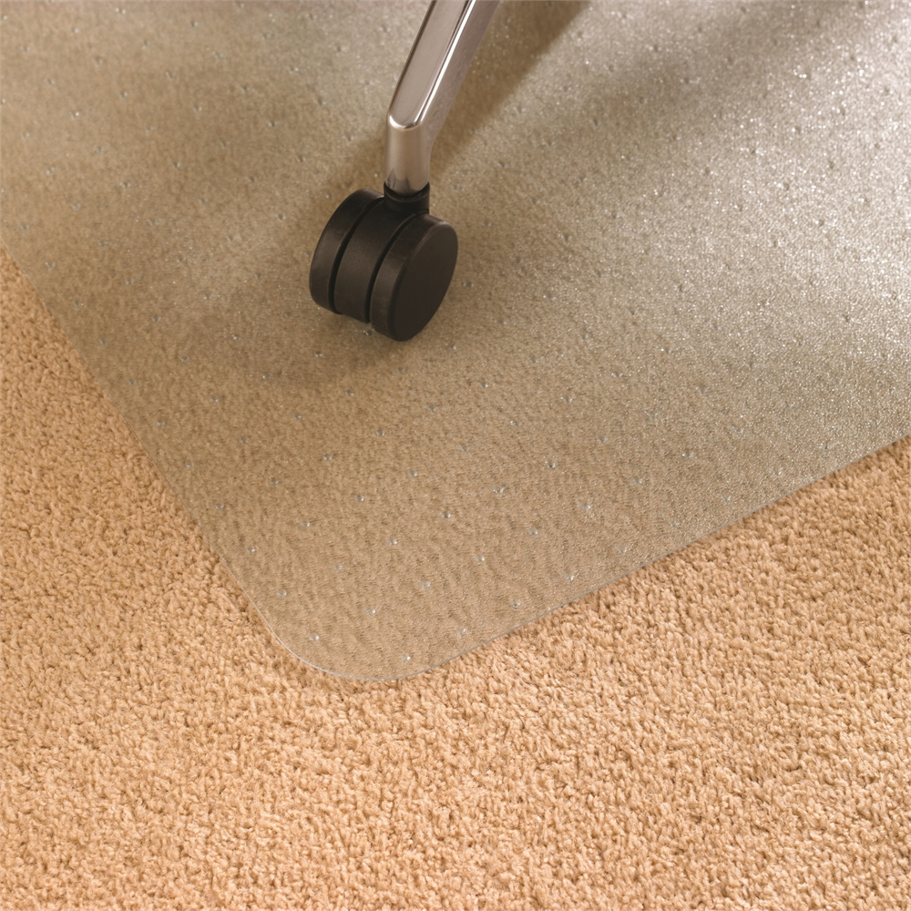 """EcoTex Enhanced Polymer Rectangular Chairmat for Standard Pile Carpets 3/8"""" or less (48"""" X 60""""). Picture 4"""