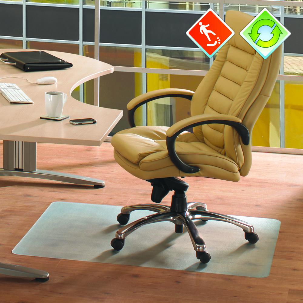 "EcoTex Revolutionmat, Recycled Anti-slip Chair Mat, For Hard Floors, 100% Recycled, Rectangular, Size 36"" x 48"". Picture 2"