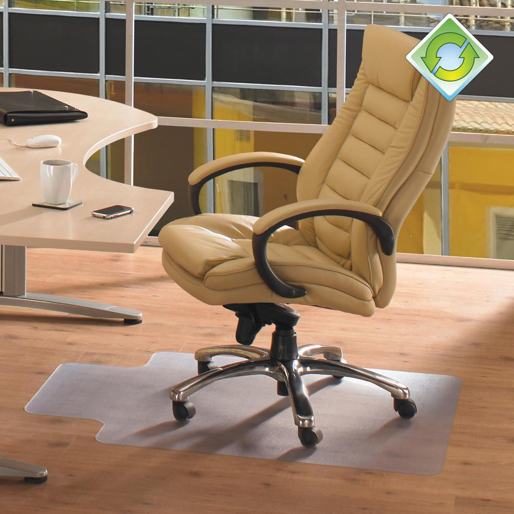"""EcoTex Revolutionmat, Recycled Chair Mat, For Hard Floors, 100% Recycled, Rectangular with Lip, Size 48"""" x 60"""". Picture 2"""