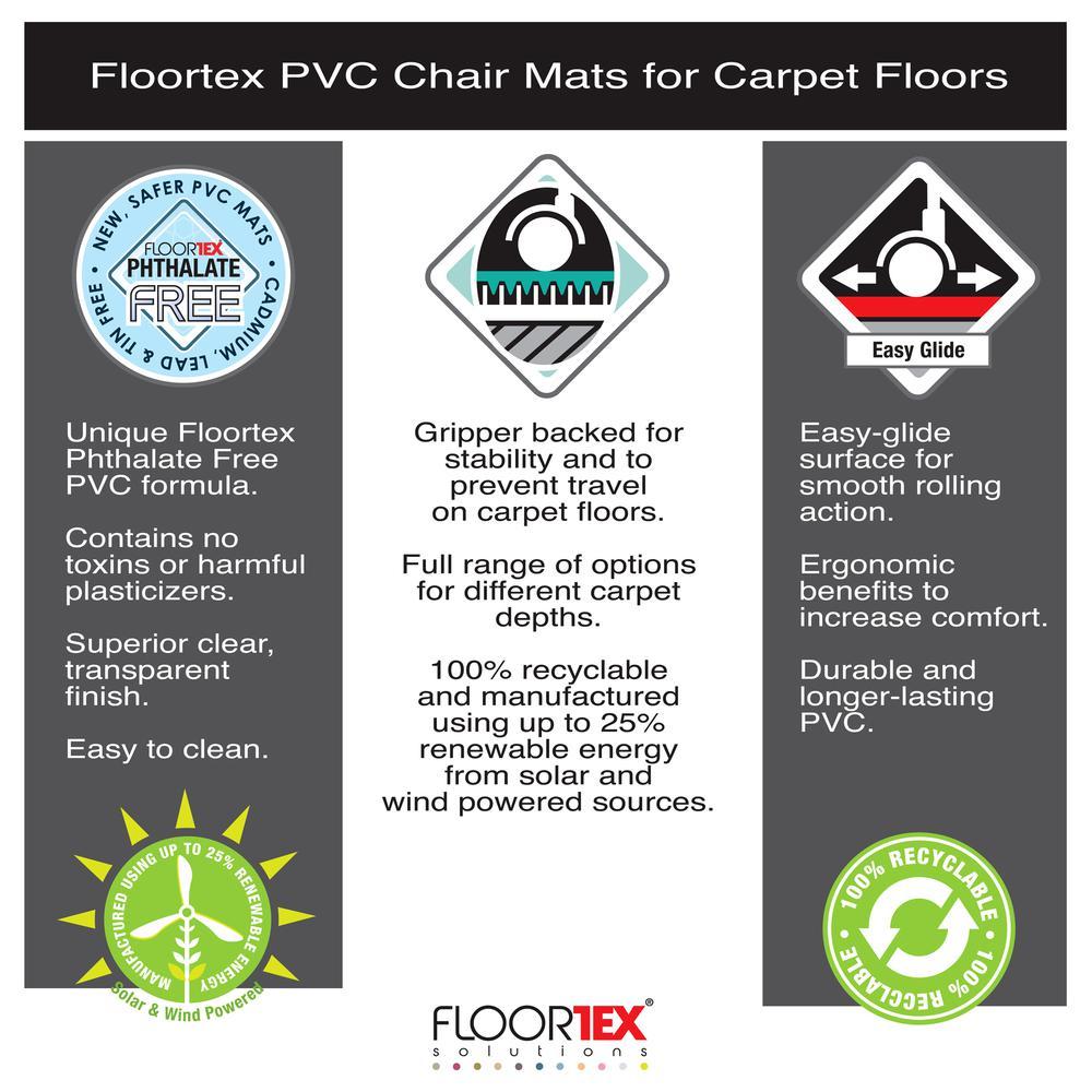 "Vinyl Rectangular Chair Mat for Carpets - 29.5"" x 47"". Picture 4"