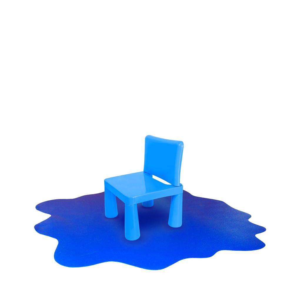 """Multi-Purpose High Chair / Play Mat. Gripper back for use on carpets. Caribbean Blue. 40"""" x 40"""" (max). Picture 9"""